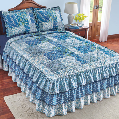 Heartland Quilted Ruffle Bedspread