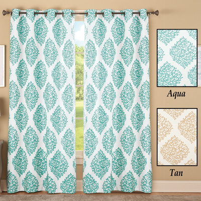 Leaf Lattice Jacquard Curtain Panel