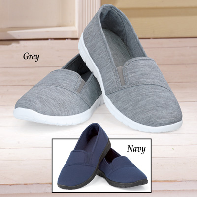 Comfy Knit Slip On Stretch Shoes