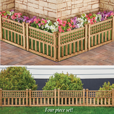 Bronze Finish Garden Border Fence, Pack of 4