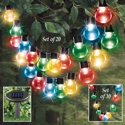 Color Changing Bulb Solar String Lights