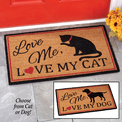 Love Me, Love My Pet Novelty Coco Mat