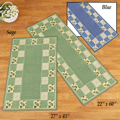 Hadley Patchwork Floral Accent Rug Runner