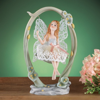 Fairy on Swing Collectible Tabletop Figurine