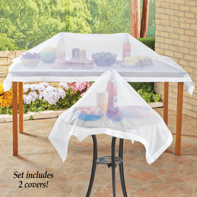 Set Of Mesh Picnic Food Table Covers From Collections Etc - Mesh picnic table