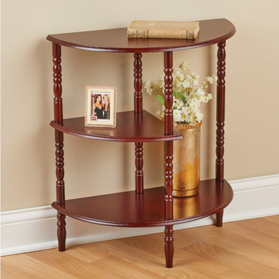 Three Tier Half Moon Shelf and Console Table