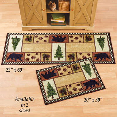 Northwoods Icons Accent Rug with Black Bears