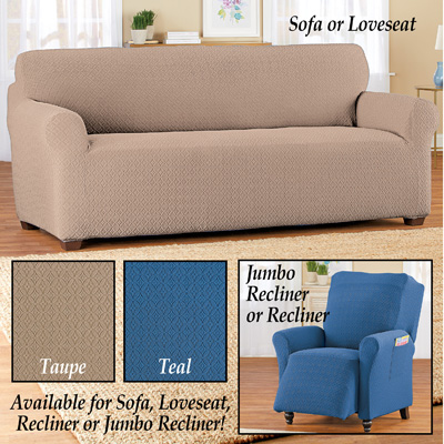 Form Fit Diamond Slipcover with Side Pockets