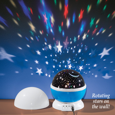 Night Light Rotating Star Projector with USB Port