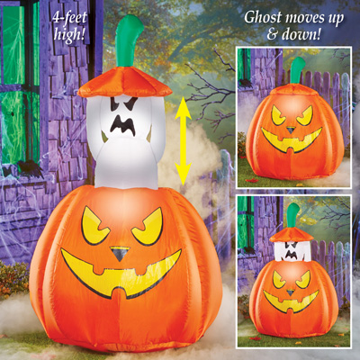 Inflatable Pop-up Animated Ghost Halloween Décor