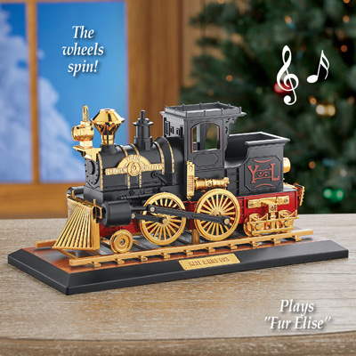 Locomotive Train Music Box with Moving Parts
