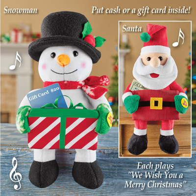 Musical Holiday Card and Cash Holder