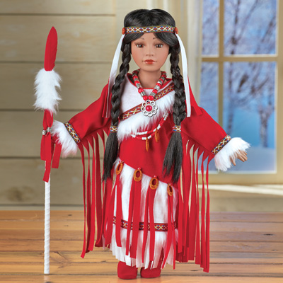 Meoquanee Native American Porcelain Doll