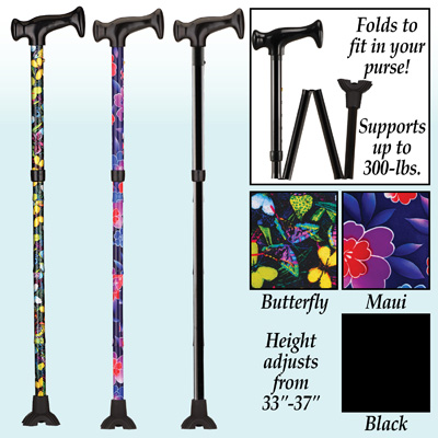 Lightweight Folding Collapsible Cane for Women