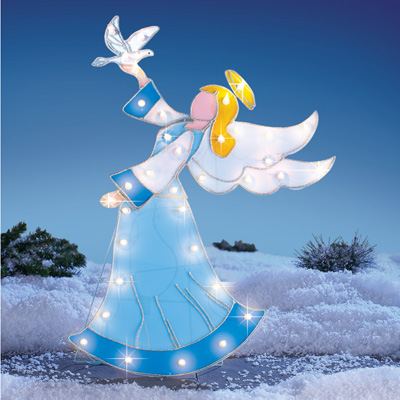 Lighted Outdoor Angel Garden Stake Decoration