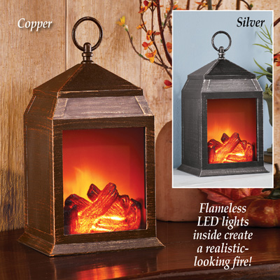 Decorative Tabletop Fireplace LED Lantern
