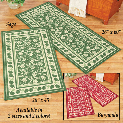 Floral Elegant Scroll Accent Rug