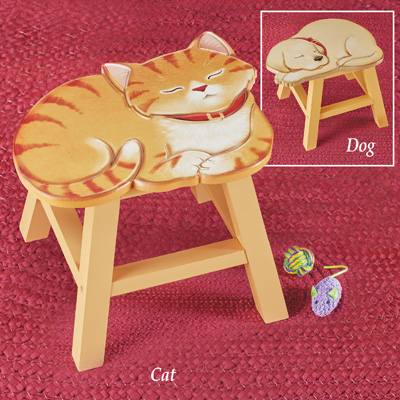 Decorative Pet Wooden Footstool