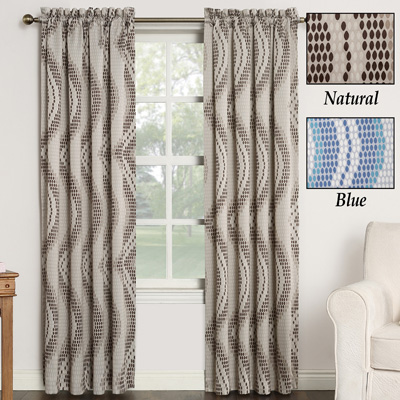 Chroma Window Curtain Panel with Wave Tile Pattern