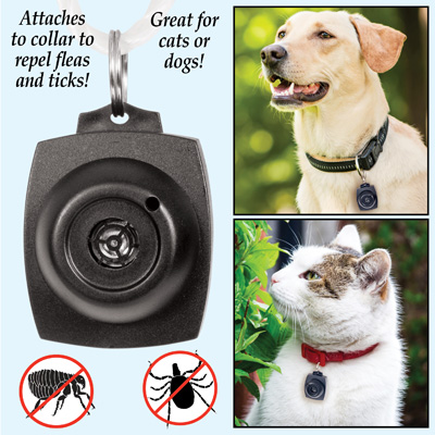 Ultrasonic Flea and Tick Repeller for Dogs & Cats