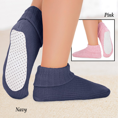 Knit Slippers Socks with Skid-Resistant Bottom