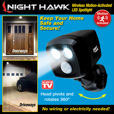 Night Hawk Motion Activated Outdoor Security Light