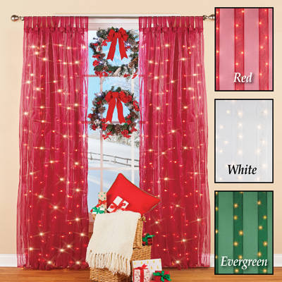 Light Up Magical Sheer Window Curtain Panel