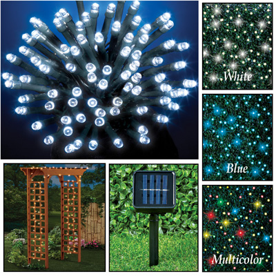 Solar String Lights - Steady & Flashing Modes - Set of 100