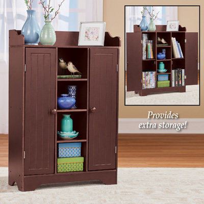 Dark Wood Storage Cabinet and Display Center
