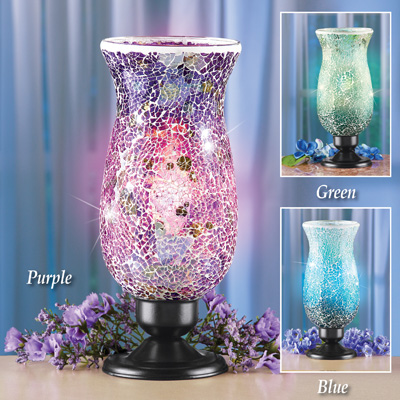 Mosaic Glass Table Top Accent Lamp