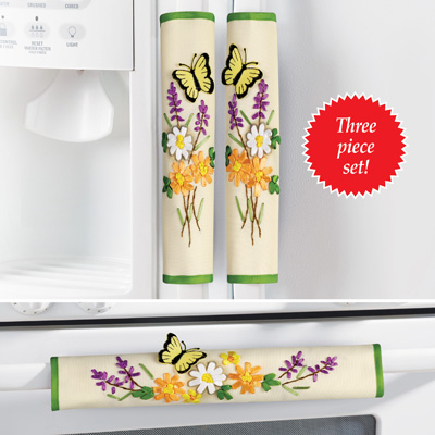 Spring Floral Kitchen Appliance Handle Covers