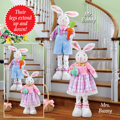 Expandable Bunny Greeter Easter Decoration