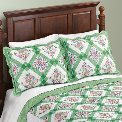 Diamond Flower Woven Patchwork Pillow Sham
