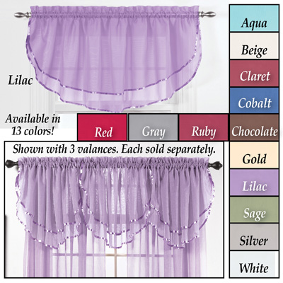 Elegance Sheer Ascot Window Valance