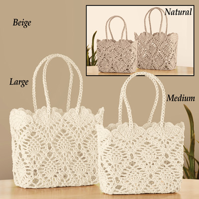 Crochet Style Everyday Tote Bag