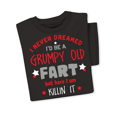 Grumpy Old Fart Funny Grandparent Tee Shirt