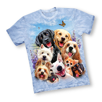 Sky Blue Springtime Puppy T-Shirt