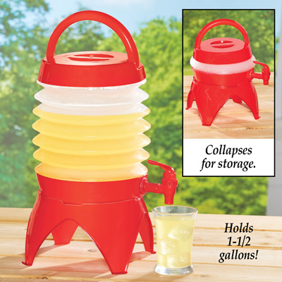 Collapsible Drink Dispenser with Handle