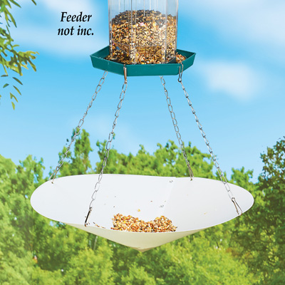 Bird Seed Catcher with Hanging Chains