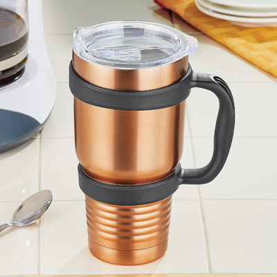 Jumbo Copper- Colored Stainless Steel Tumbler