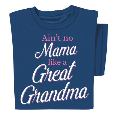 Great Grandma Navy Cotton T-Shirt