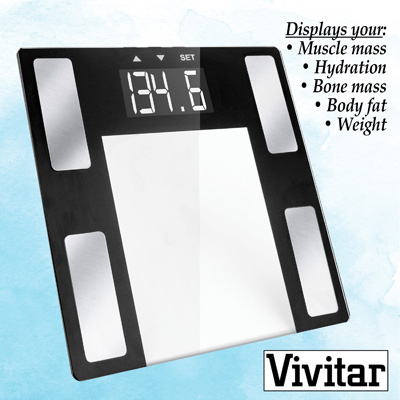Vivitar Body Analysis Scale and Easy-To-Read Display