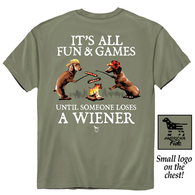 Fun and Games Olive-Colored Funny Novelty T-Shirt