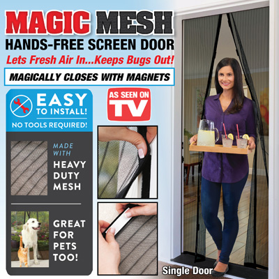 Magic Mesh Hands-Free Single Screen Door