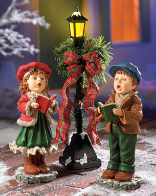 Christmas Carollers Figurine Set From Collections Etc