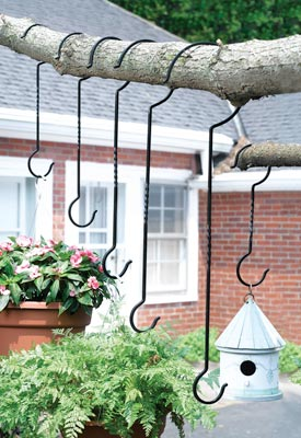 Outdoor Plant Hanger Hooks - Set of 6