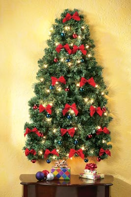 Lighted Christmas Wall Tree from Collections Etc.