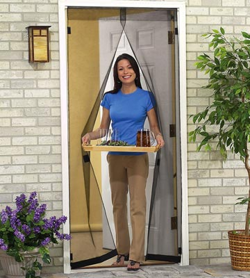 Hanging instant clear screen door panels from collections etc - Screens for doors that hang ...