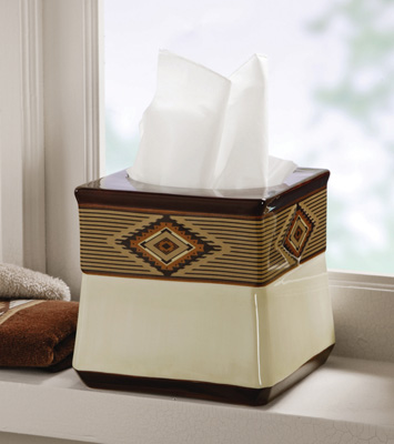 Southwest Bath Tissue Box Cover