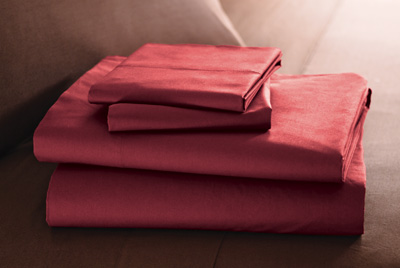 Percale Woven Solid Sheet Set from Portugal